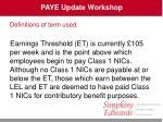 paye update workshop16