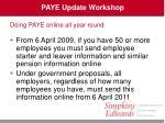 paye update workshop19