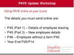 paye update workshop20