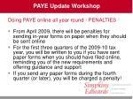 paye update workshop21