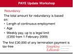 paye update workshop25