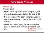 paye update workshop26
