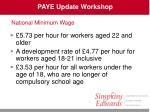 paye update workshop27