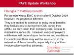 paye update workshop30