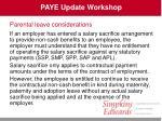 paye update workshop31