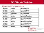 paye update workshop5