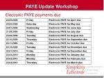 paye update workshop6