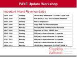 paye update workshop7