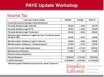 paye update workshop9