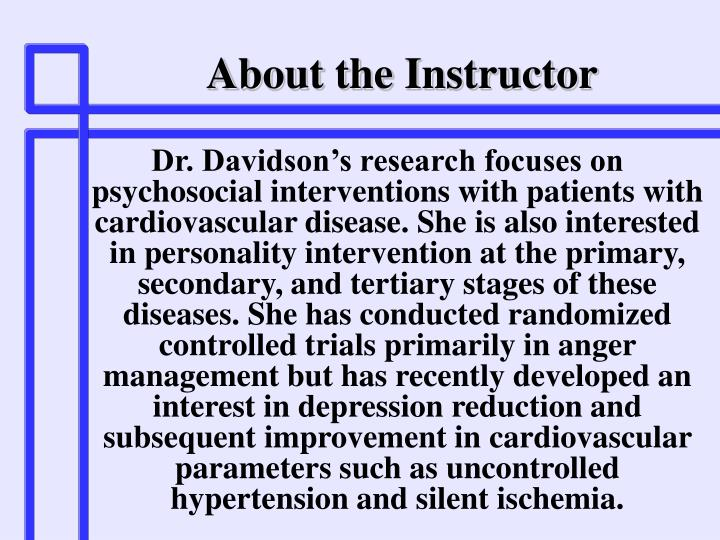 About the instructor1