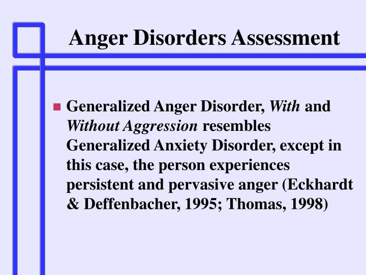 Anger Disorders Assessment