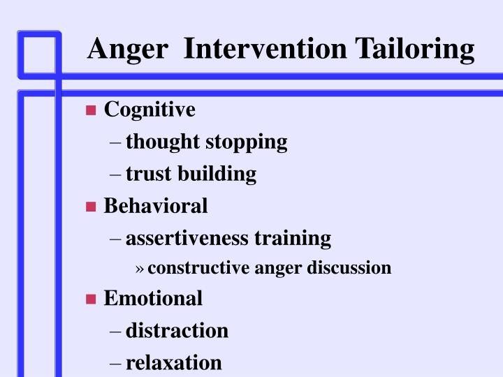 Anger  Intervention Tailoring