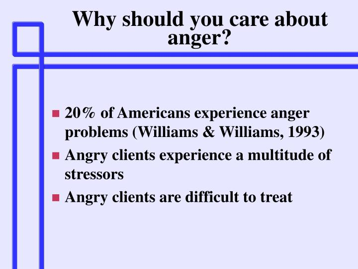 Why should you care about anger?