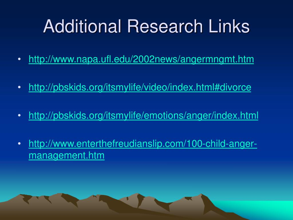 Additional Research Links