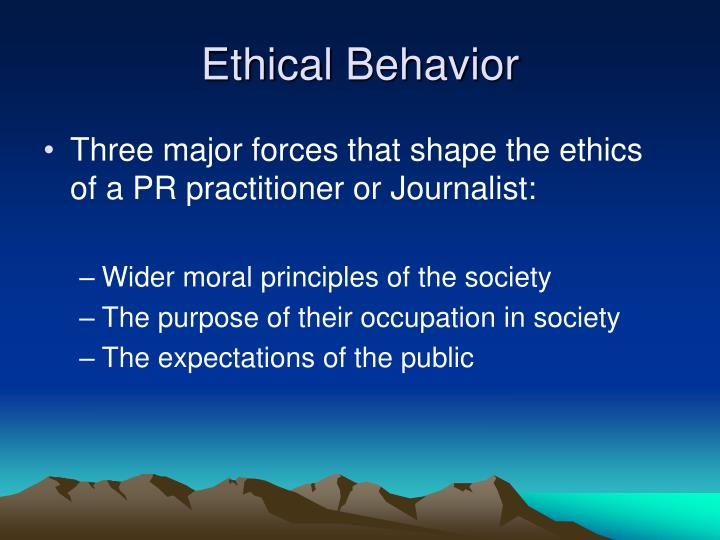 ethical behavior on the planet essay Key concepts ethics are a personal code of behavior they represent an ideal we strive toward because we presume that to achieve ethical behavior is appropriate, honorable, and desirable --- both on a personal level and within the groups we belong to.