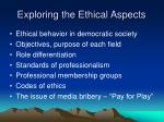 exploring the ethical aspects