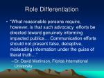 role differentiation1