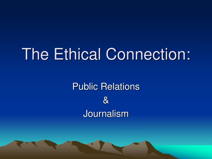 the ethical connection n.