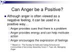 can anger be a positive