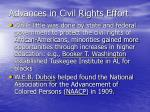 advances in civil rights effort