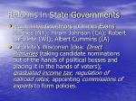reforms in state governments