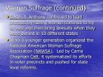 woman suffrage continued