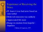 experience of receiving the news2