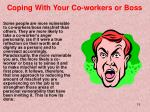 coping with your co workers or boss