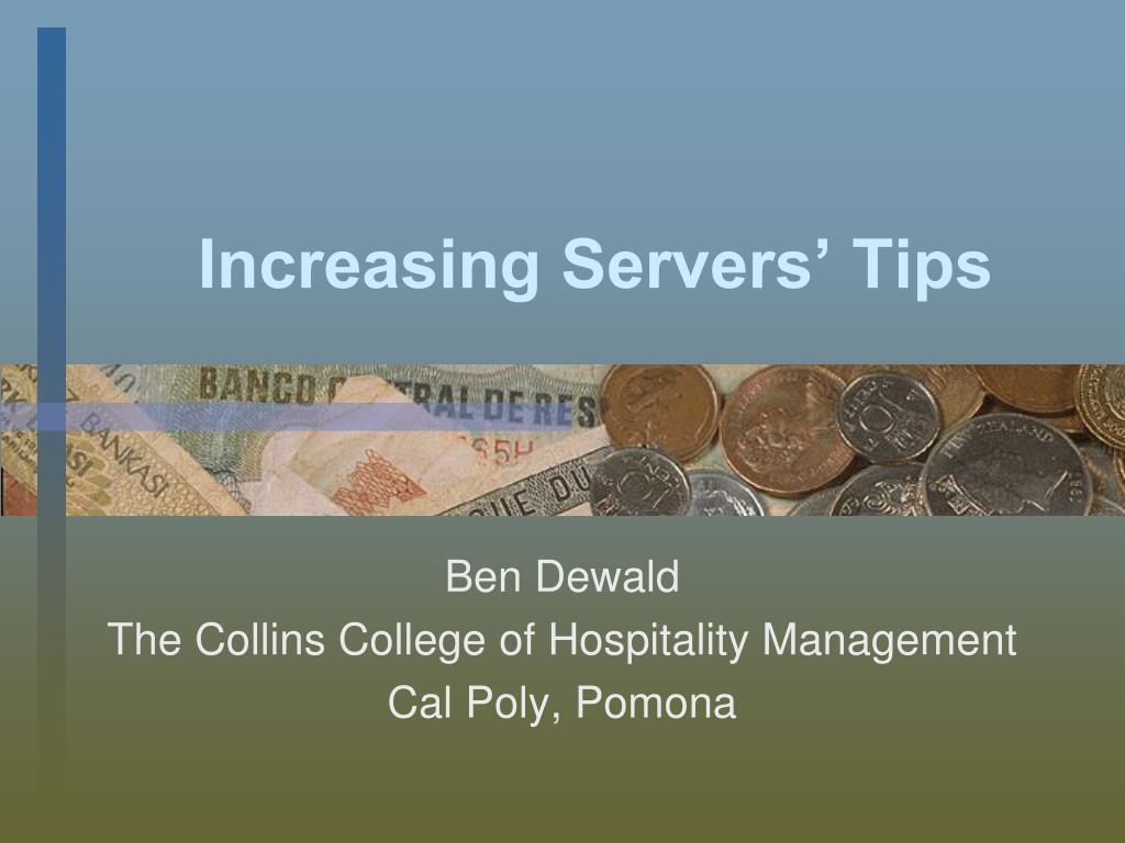 Increasing Servers' Tips