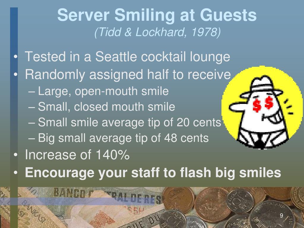 Server Smiling at Guests