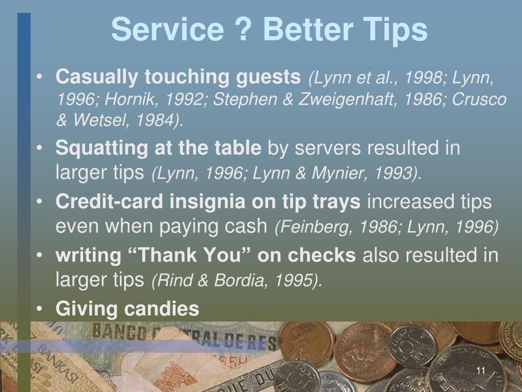 Service ? Better Tips