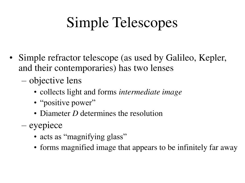 Simple Telescopes
