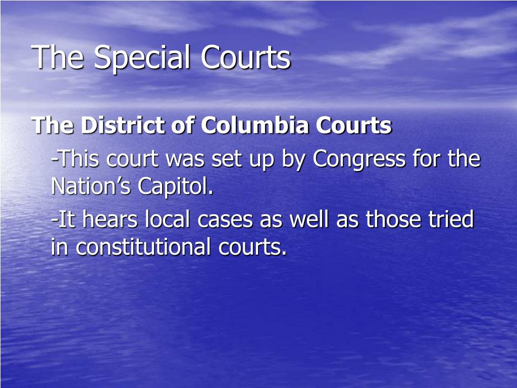 The Special Courts