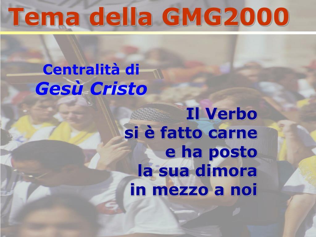 Tema della GMG2000