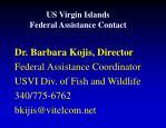 us virgin islands federal assistance contact