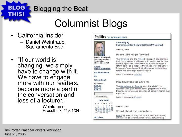 Columnist Blogs