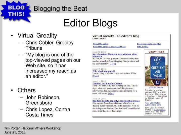 Editor Blogs