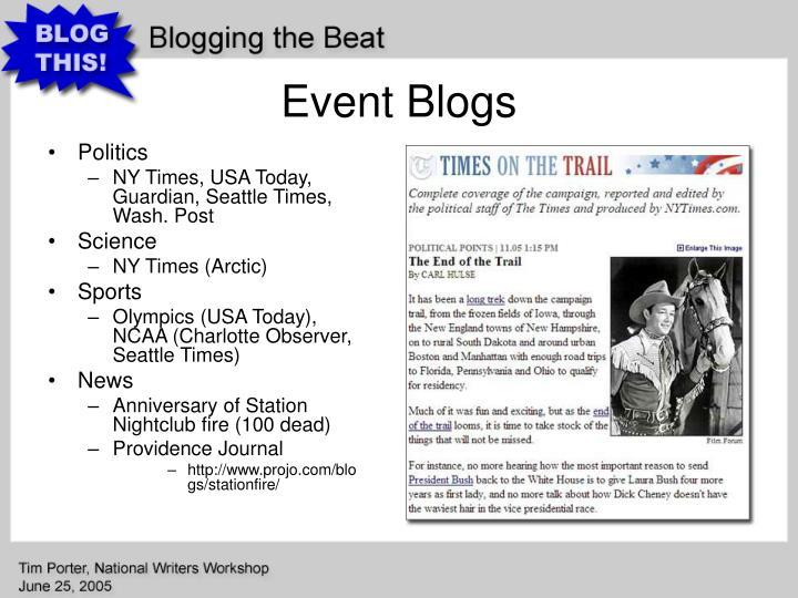 Event Blogs