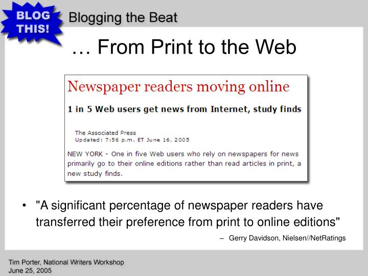 … From Print to the Web
