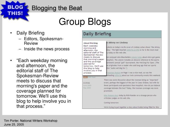 Group Blogs