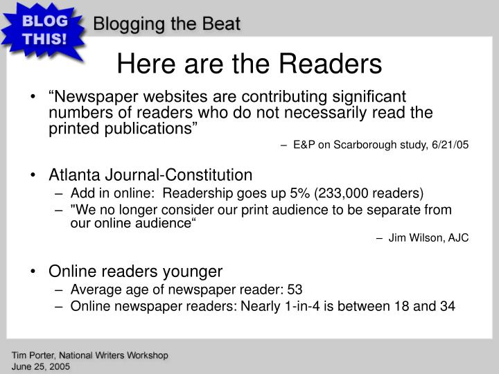 Here are the Readers