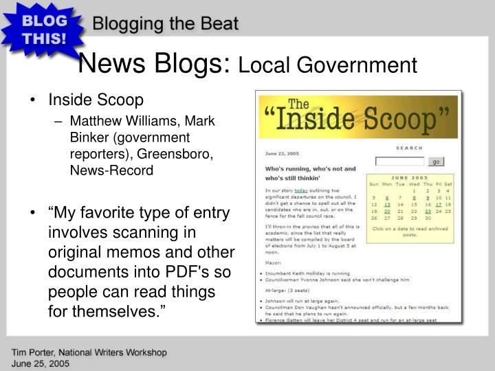 News Blogs: