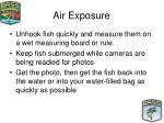 air exposure