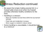stress reduction continued
