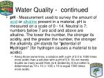 water quality continued12