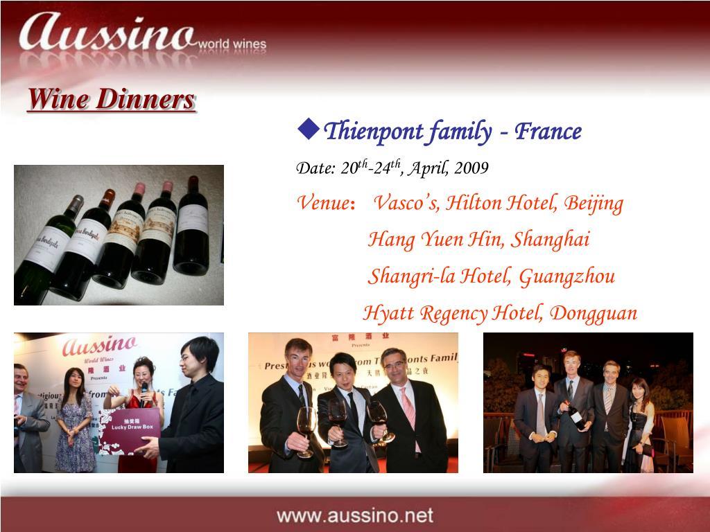 Wine Dinners