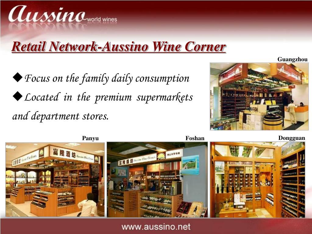 Retail Network-Aussino Wine Corner
