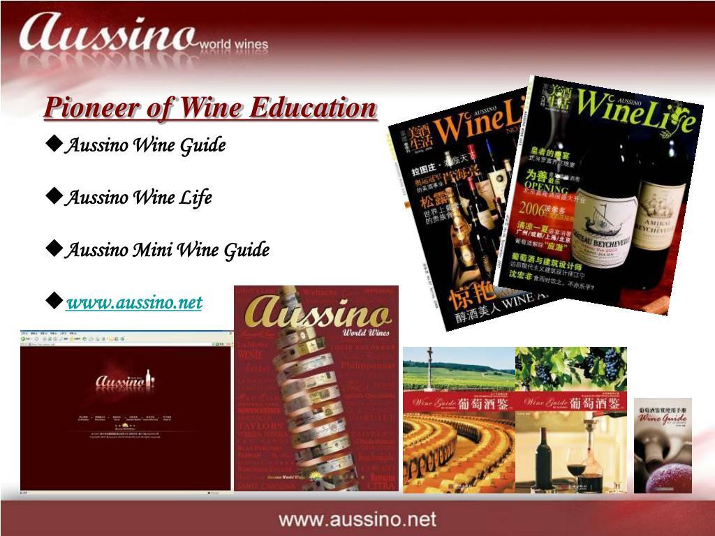 Pioneer of Wine Education