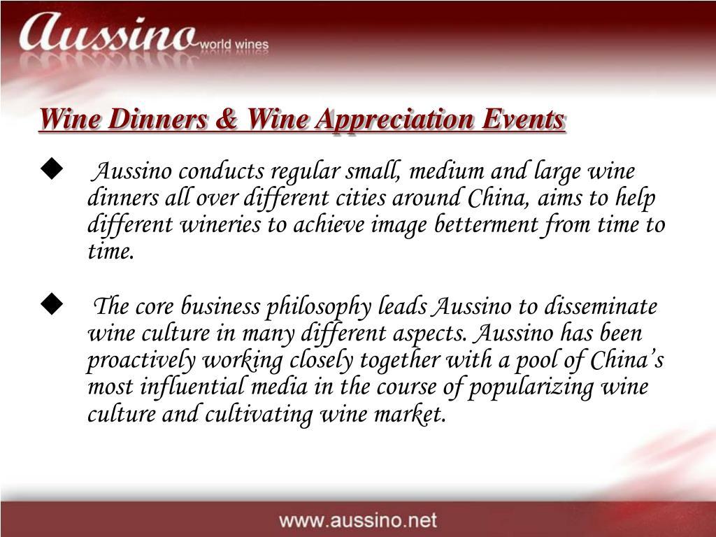 Wine Dinners & Wine Appreciation Events