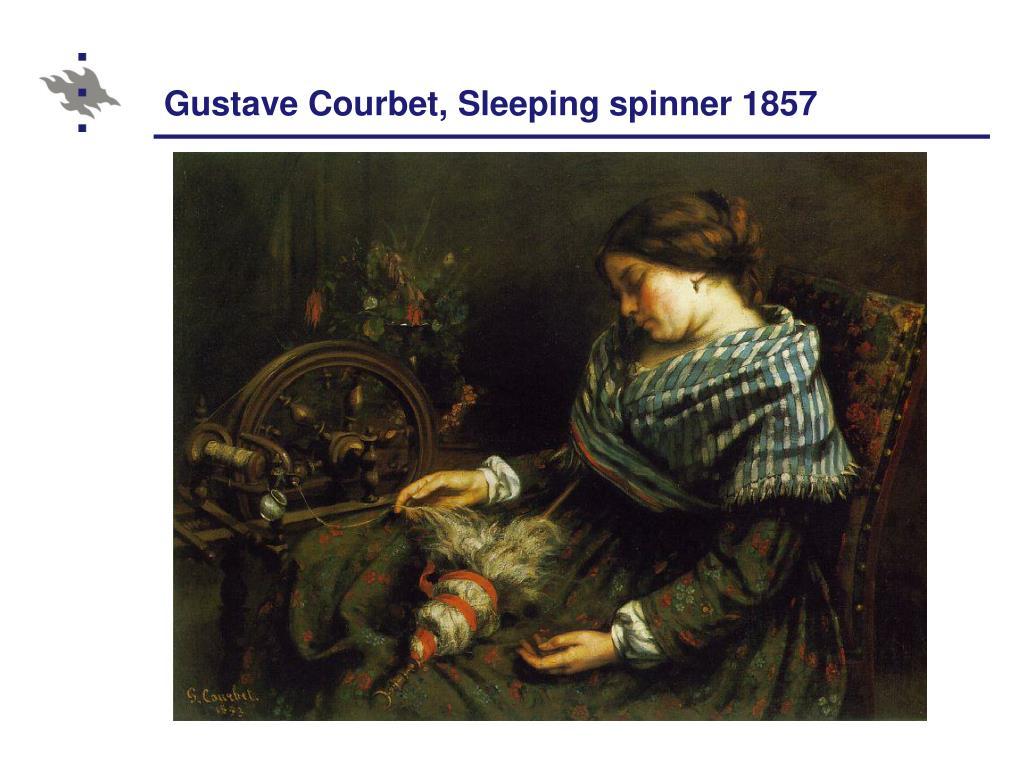 Gustave Courbet, Sleeping spinner 1857
